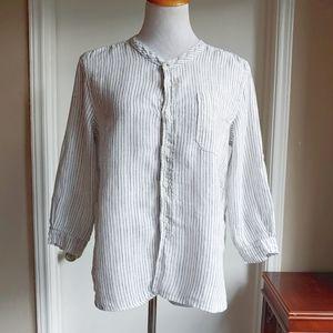 FP CP Shades Striped Linen Lagenlook Shirt